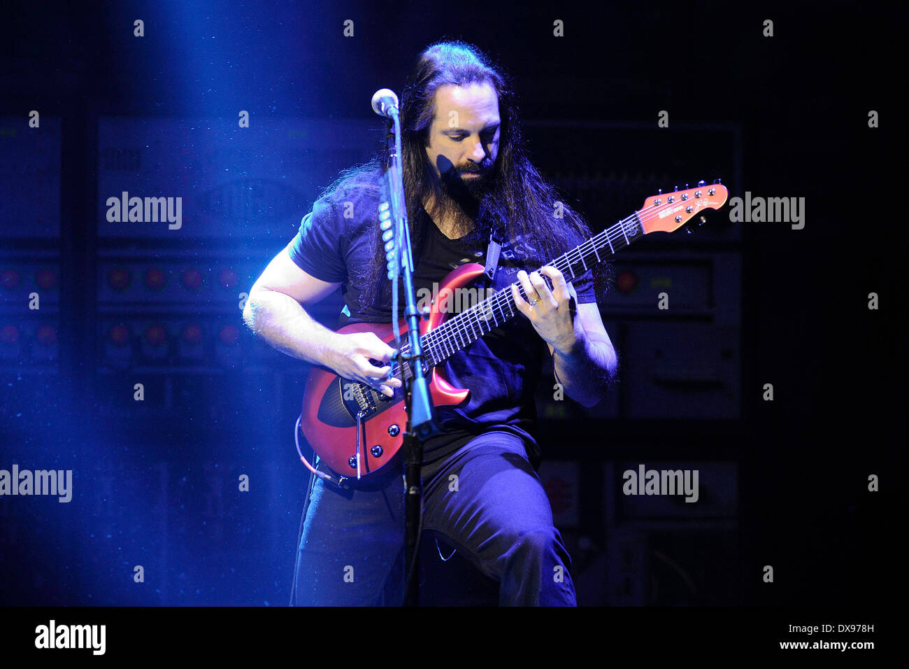 Toronto, Canada. 20th March 2014. American progressive metal rock band DREAM THEATER performs at Toronto's Massey Hall. In picture, lead guitarist John Petrucci. Credit:  EXImages/Alamy Live News - Stock Image