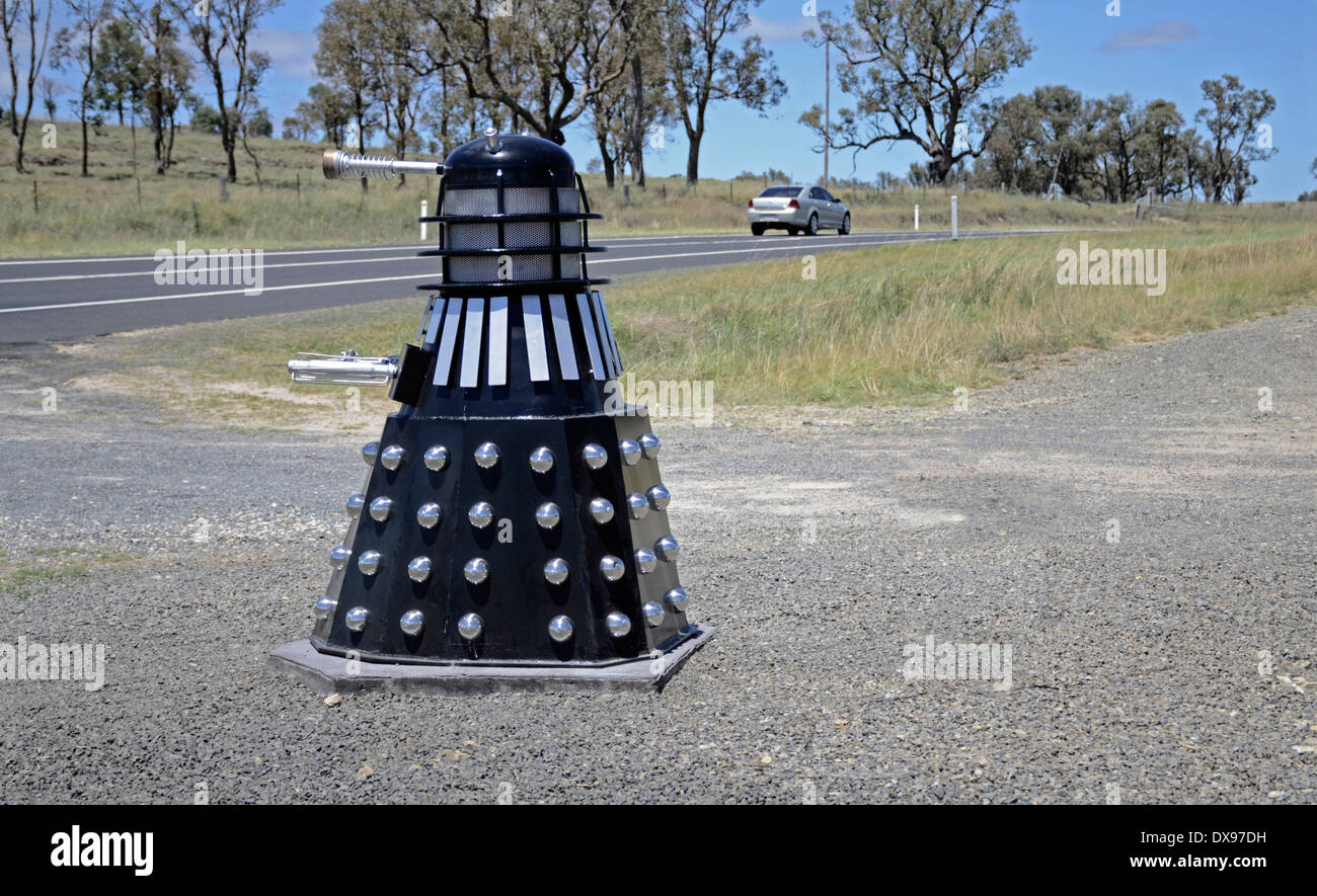 Quirky roadside mailbox in New South Wales Australia - Stock Image