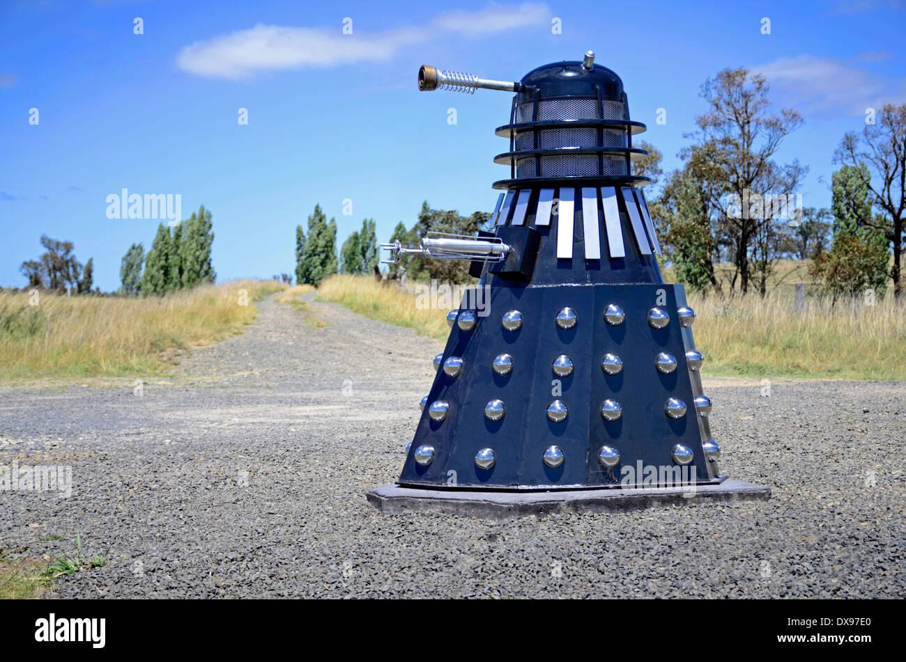 Unusual Dalek Roadside Mailbox - Stock Image