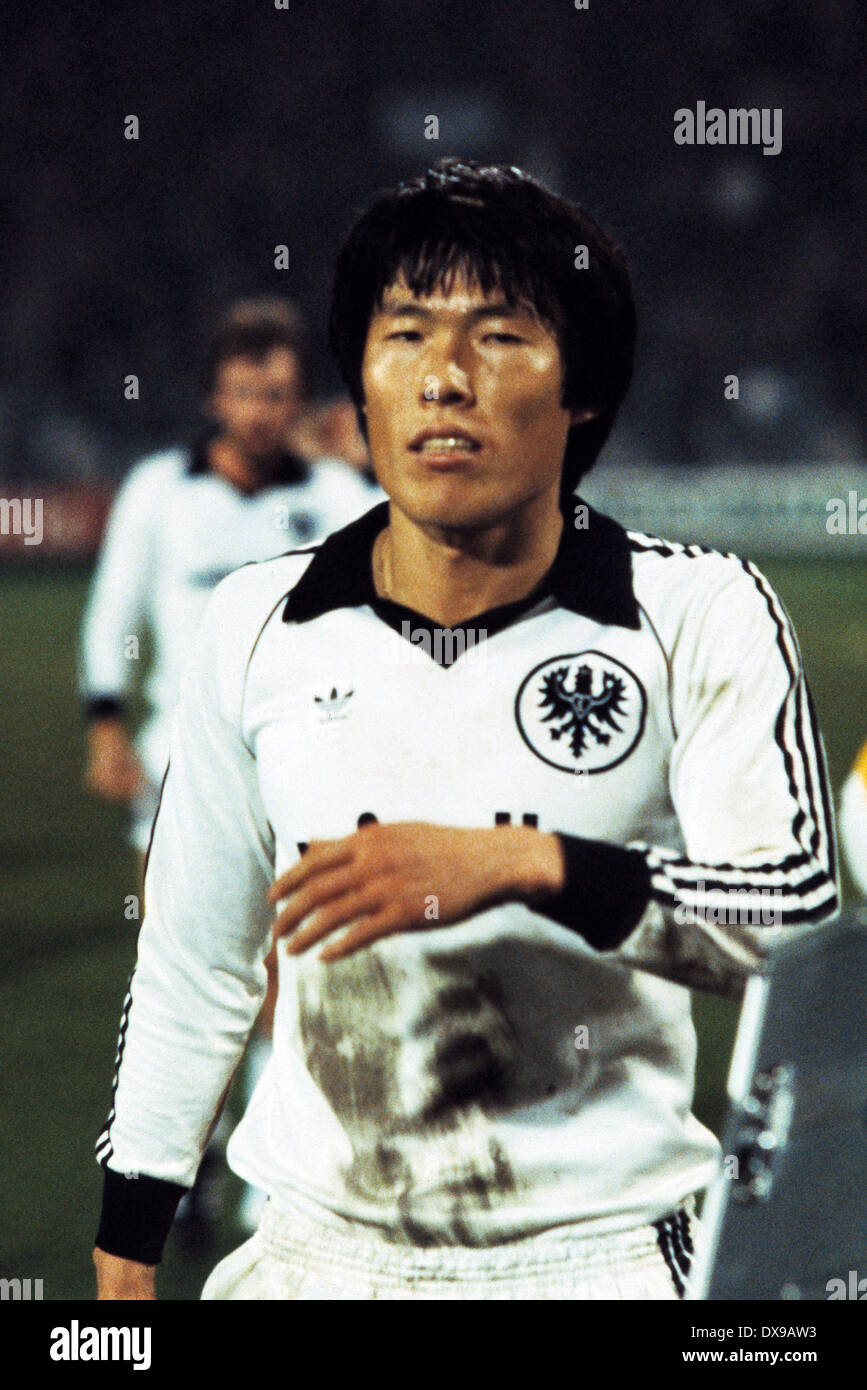 football, Bundesliga, 1979/1980, Ruhrstadion, VfL Bochum versus Eintracht Frankfurt 1:0, end of the game, leaving, Bum-Kun Cha (Eintracht) - Stock Image