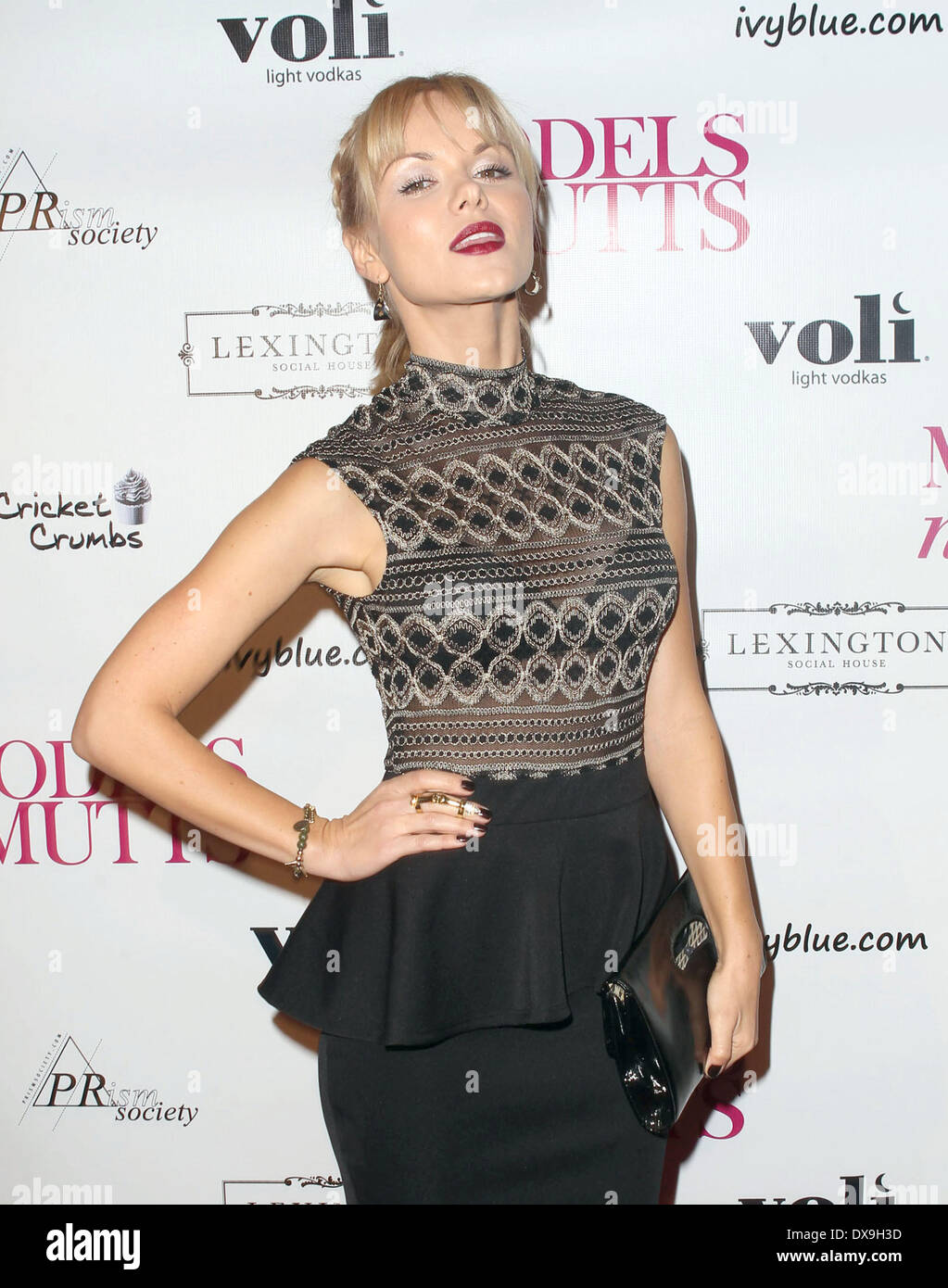 Anya Monzikova at the Launch for charity 'Models n' Mutts.' held at Lexington Social House in Hollywood Featuring: Anya Monziko - Stock Image