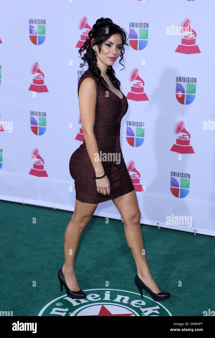 Mariann Gavelo 13th Annual Latin Grammy Awards held at the Mandalay Bay Resort and Casino - Arrivals Las Vegas, Stock Photo