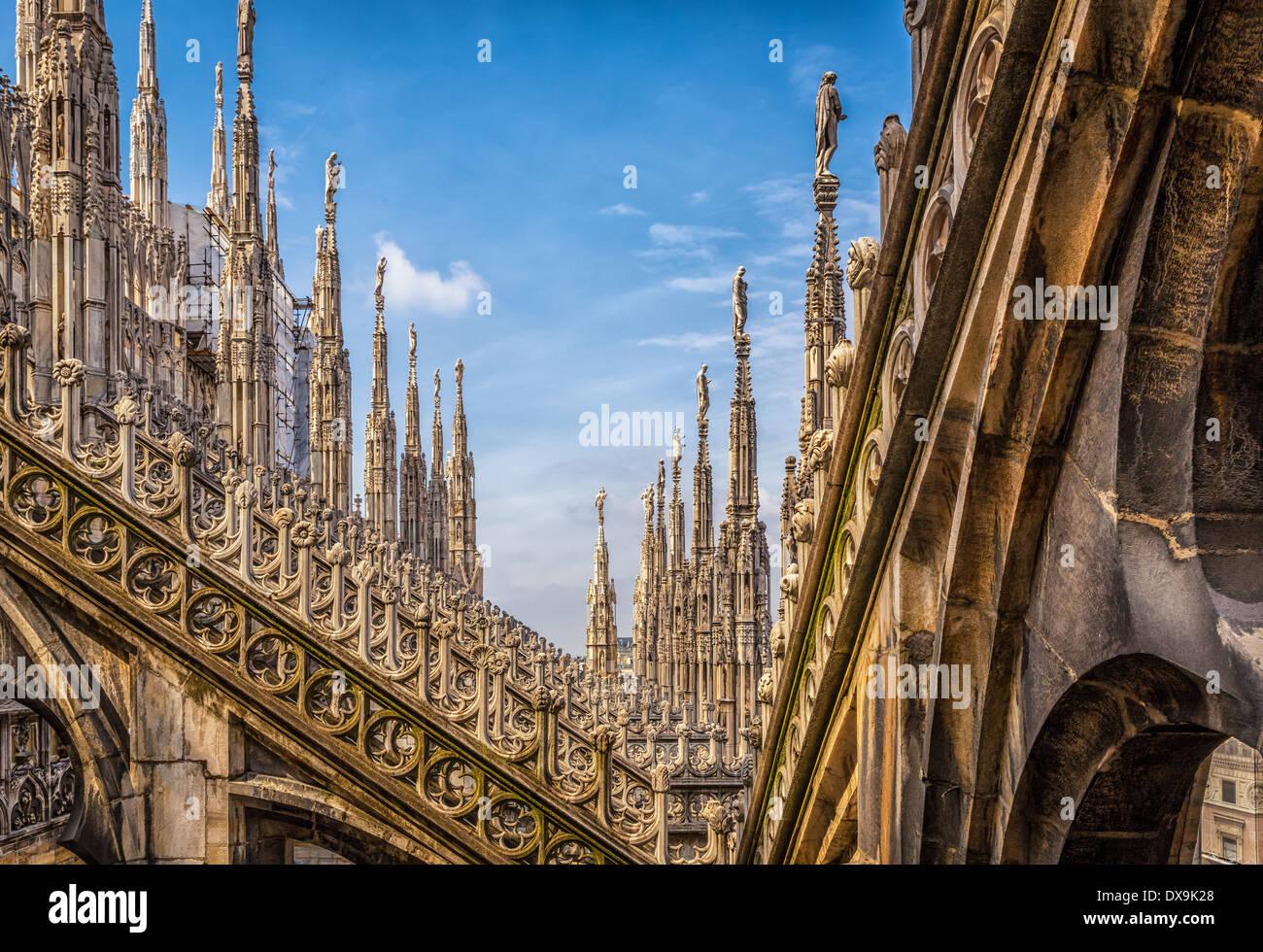 Milan Duomo, Milan Cathedral, Milan, Italy - Stock Image