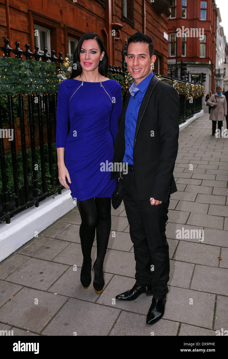 Linzi Stoppard and Ben Lee AVON and Women's Aid Empowering Women Awards 2012 - Outside Arrivals London, England - 22.11.12 Feat - Stock Image