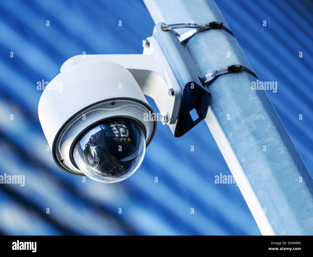 security camera or monitoring camera located in an urban environment - Stock Image