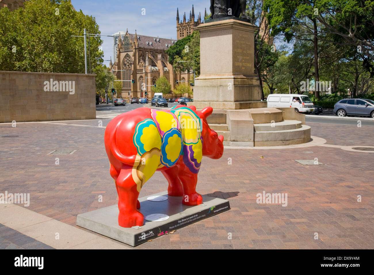 taronga zoo displayed a series of model animals from sydney to dubbo , this one is in macquarie street,sydney Stock Photo
