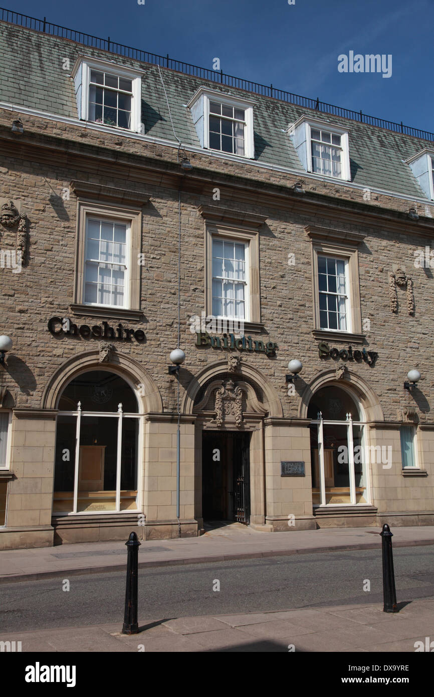 The Macclesfield branch of the Cheshire Building Society, now merged with the Nationwide Building Society - Stock Image