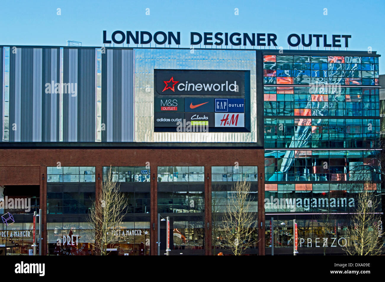 View of the London Designer Outlet, Wembley Park, London Borough of Brent, London, England, United Kingdom - Stock Image