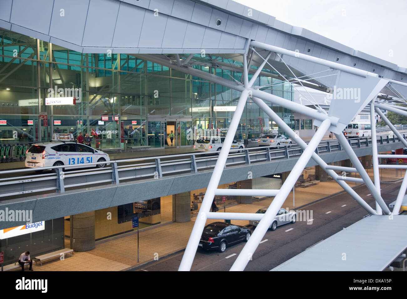 sydney airport terminal building Stock Photo