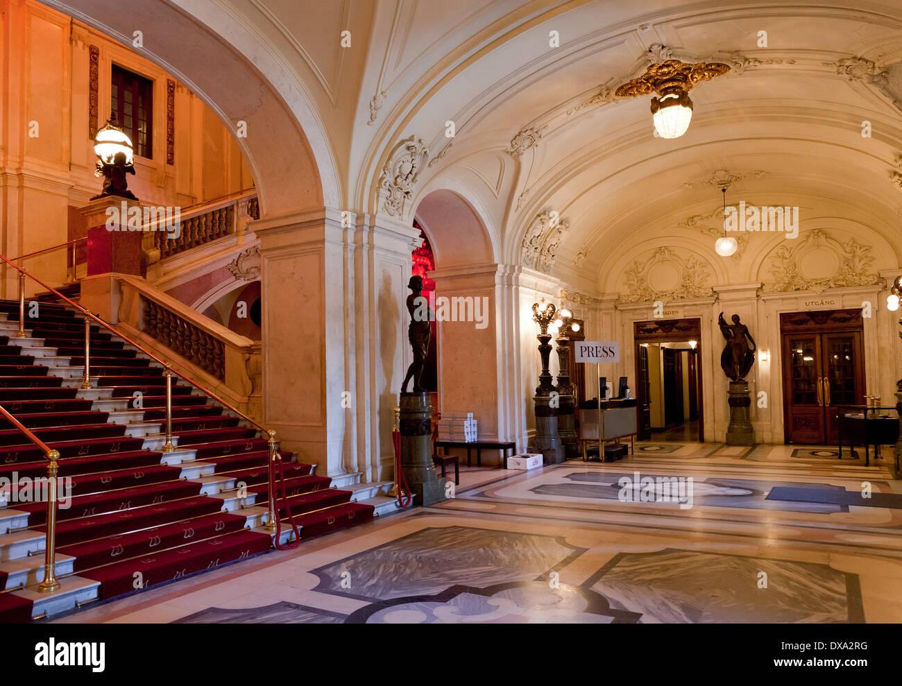 Stockholm, Sweden - Operan (Opera) entrance hall - Stock Image