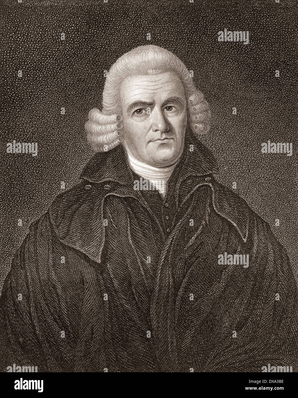 John Brown of Haddington, 1722 –1787. Scottish divine and author. From a 19th century print. - Stock Image