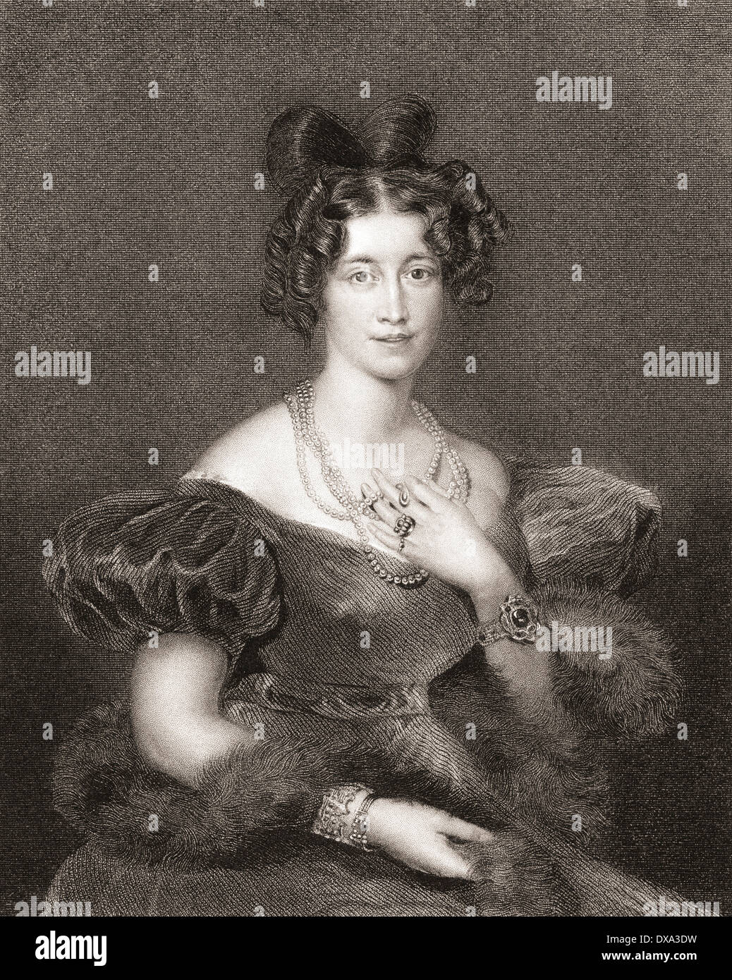 Sophia Sidney, Baroness De L'Isle and Dudley, née FitzClarence, 1796 –1837. Eldest daughter of William IV and Dorothea Jordan. - Stock Image
