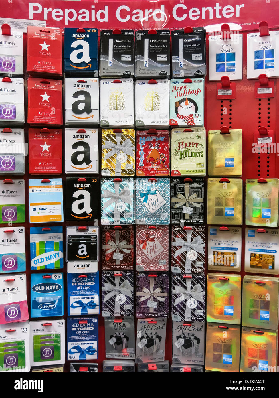 prepaid card center display  cvs  drug store  usa stock