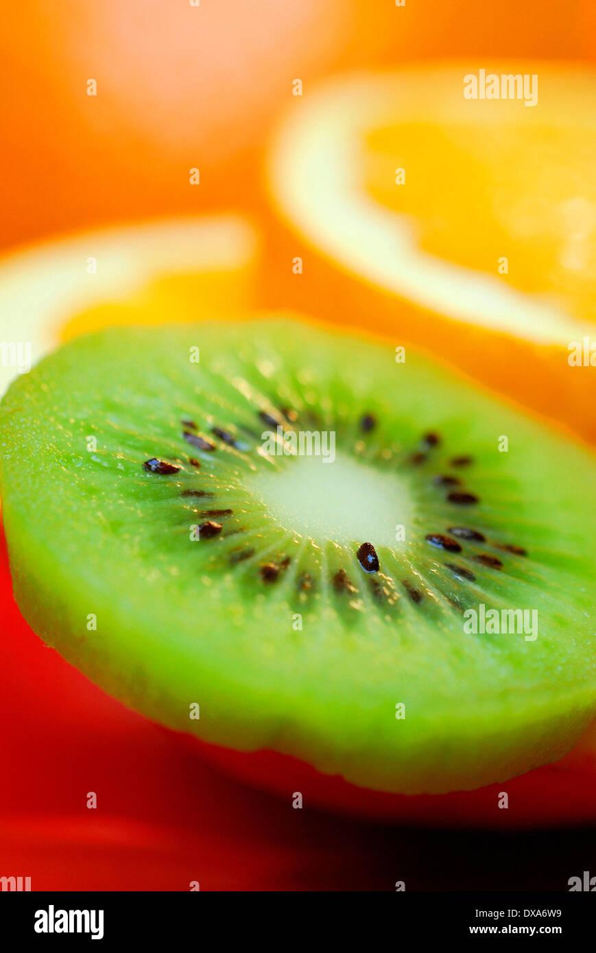 Orange and Kiwi - Stock Image