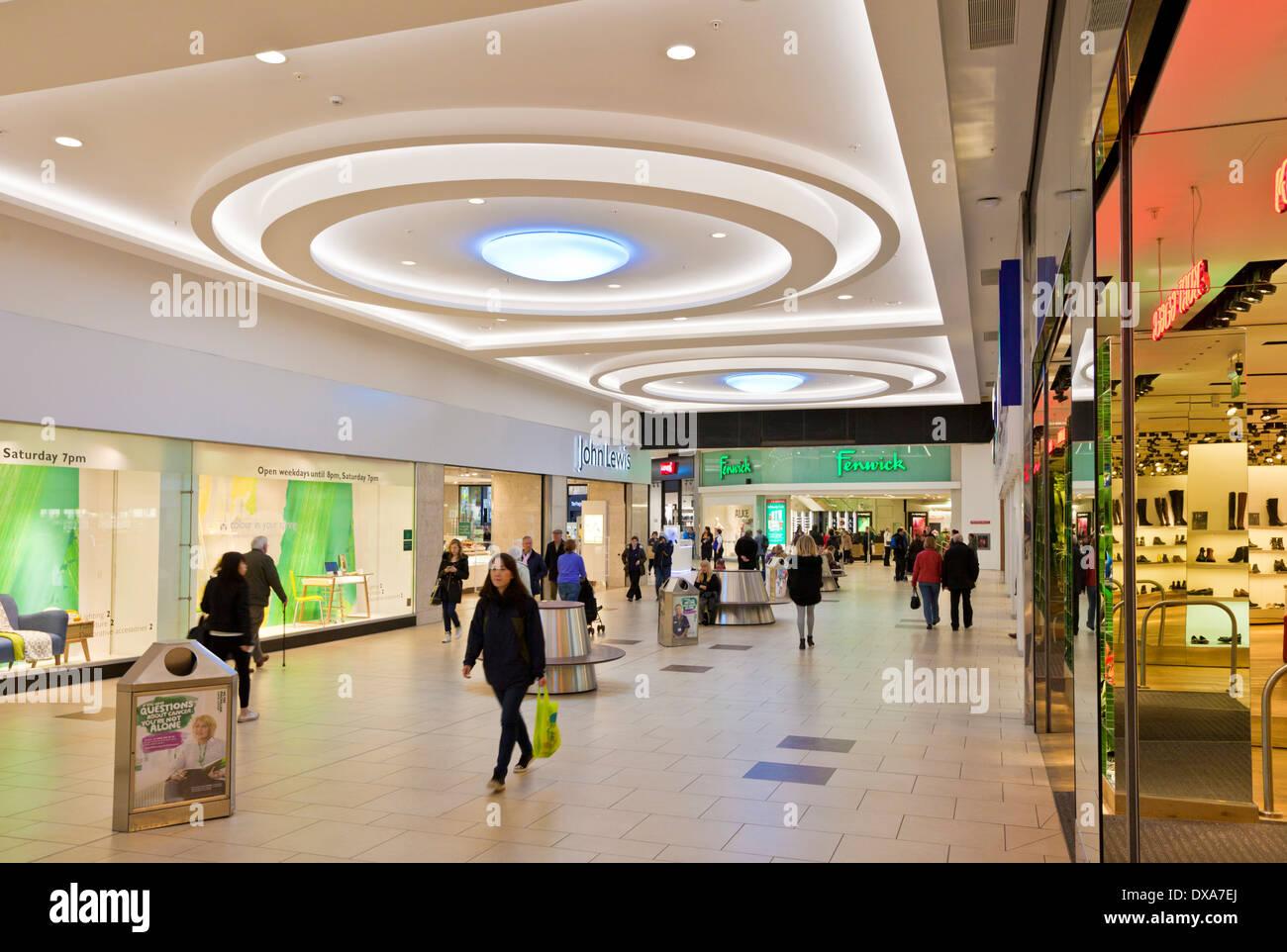 Shopping inside the Eldon square shopping centre Newcastle upon Tyne city centre Tyne and Wear England GB UK - Stock Image