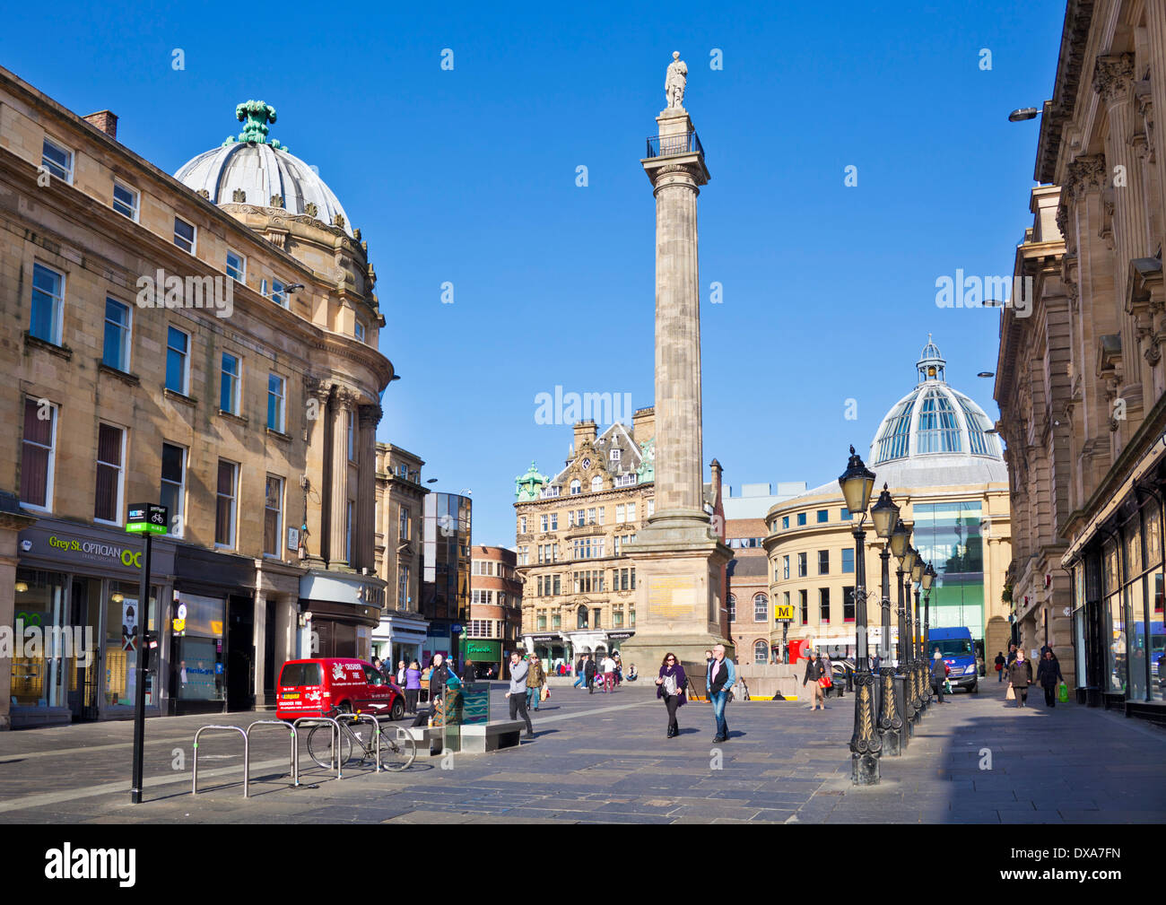 Grey's Monument Grey street Grainger Town Newcastle upon Tyne city centre Tyne and Wear England GB UK EU Europe - Stock Image