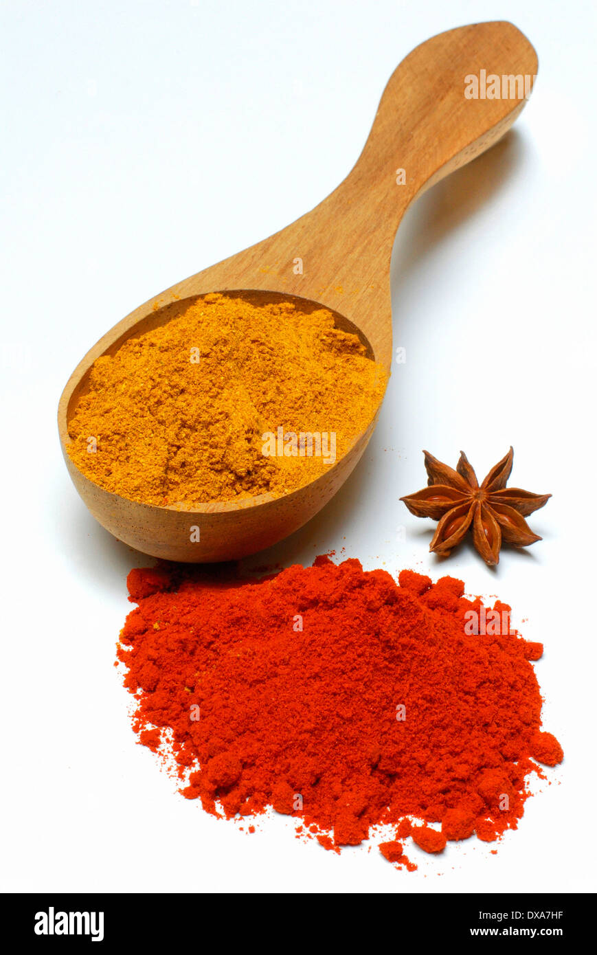 Curry, Paprika, Star Anise - Stock Image