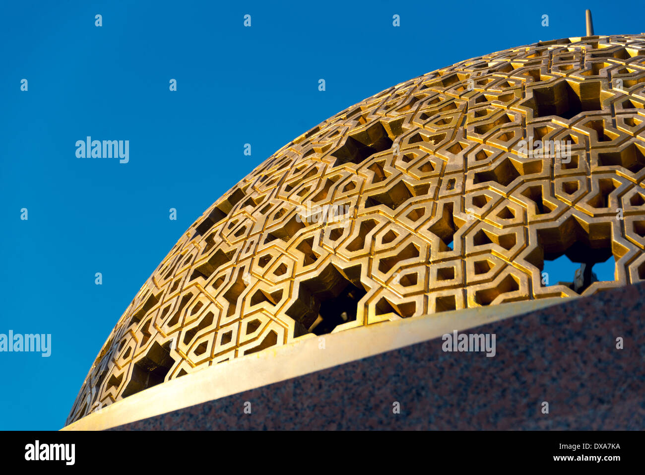 Detail of one of numerous domes on Muttrah Corniche promenade, in Muscat, Sultanate of Oman - Stock Image
