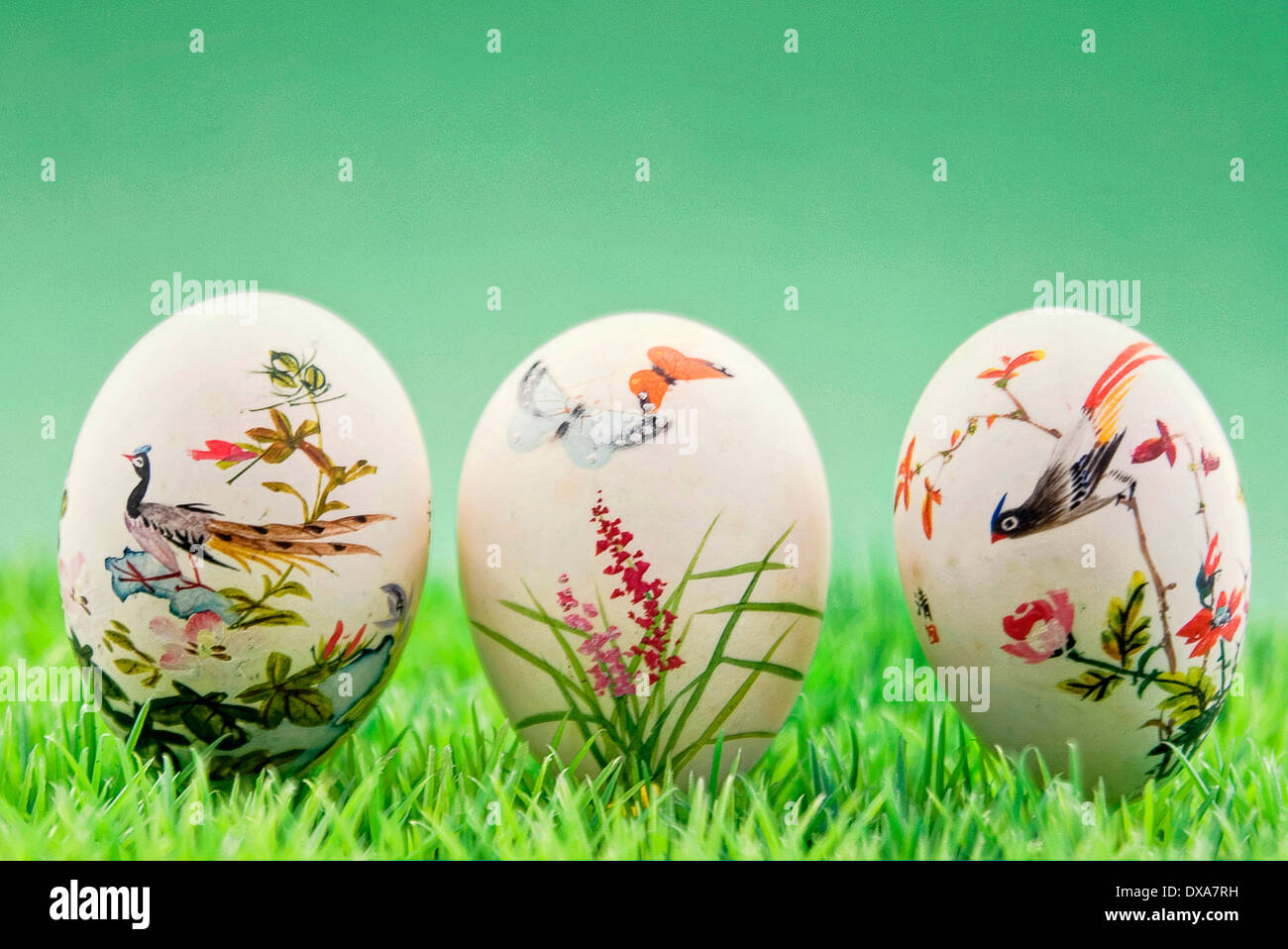 hand-painted Easter eggs Chinese - Stock Image