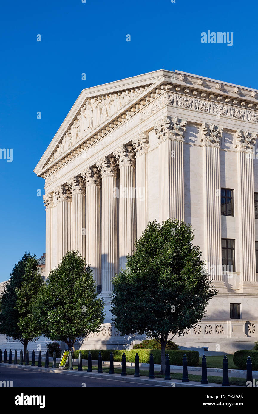 Supreme Court Building, eastern facade, Washington D.C., USA - Stock Image