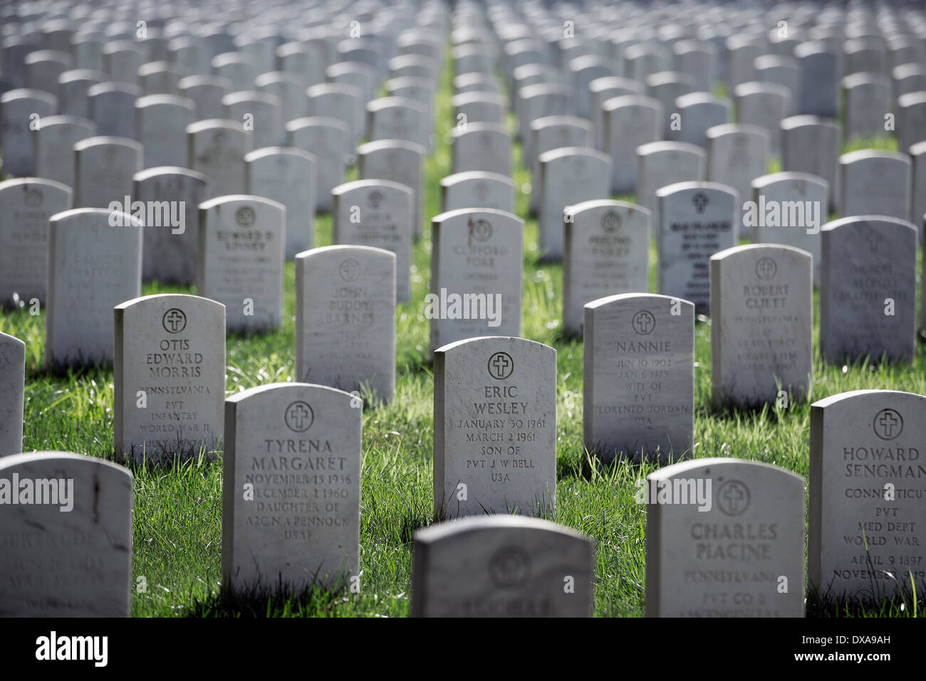 Beverly National Cemetery, Beverly, New Jersey, USA - Stock Image