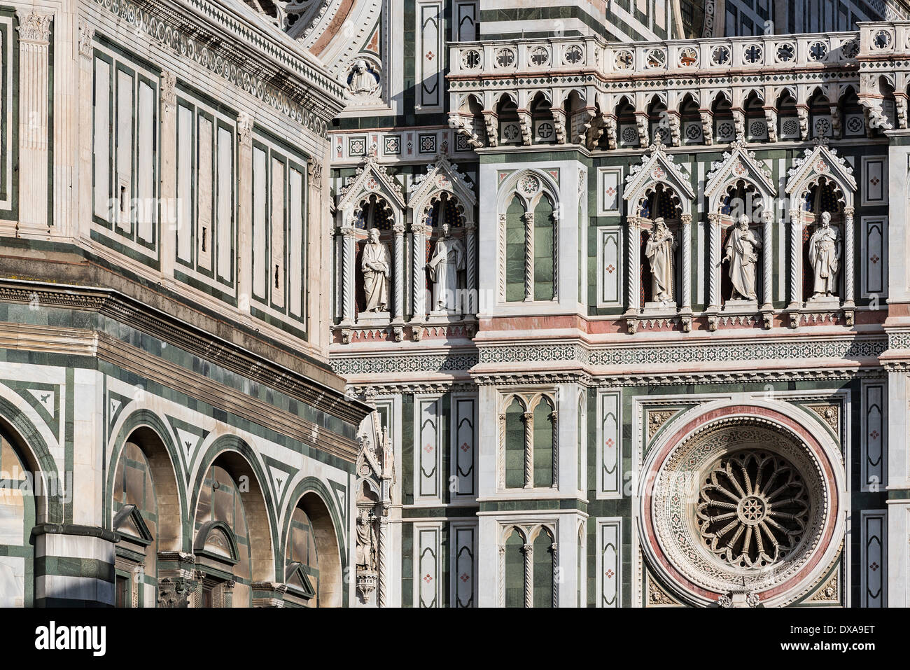 Santa Maria del Fiore Cathedral detail, Florence, Italy Stock Photo