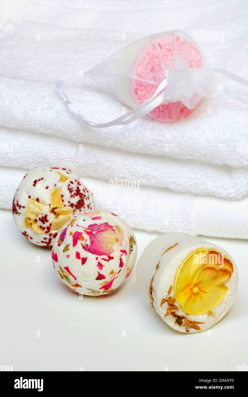 Bath beads - Stock Image