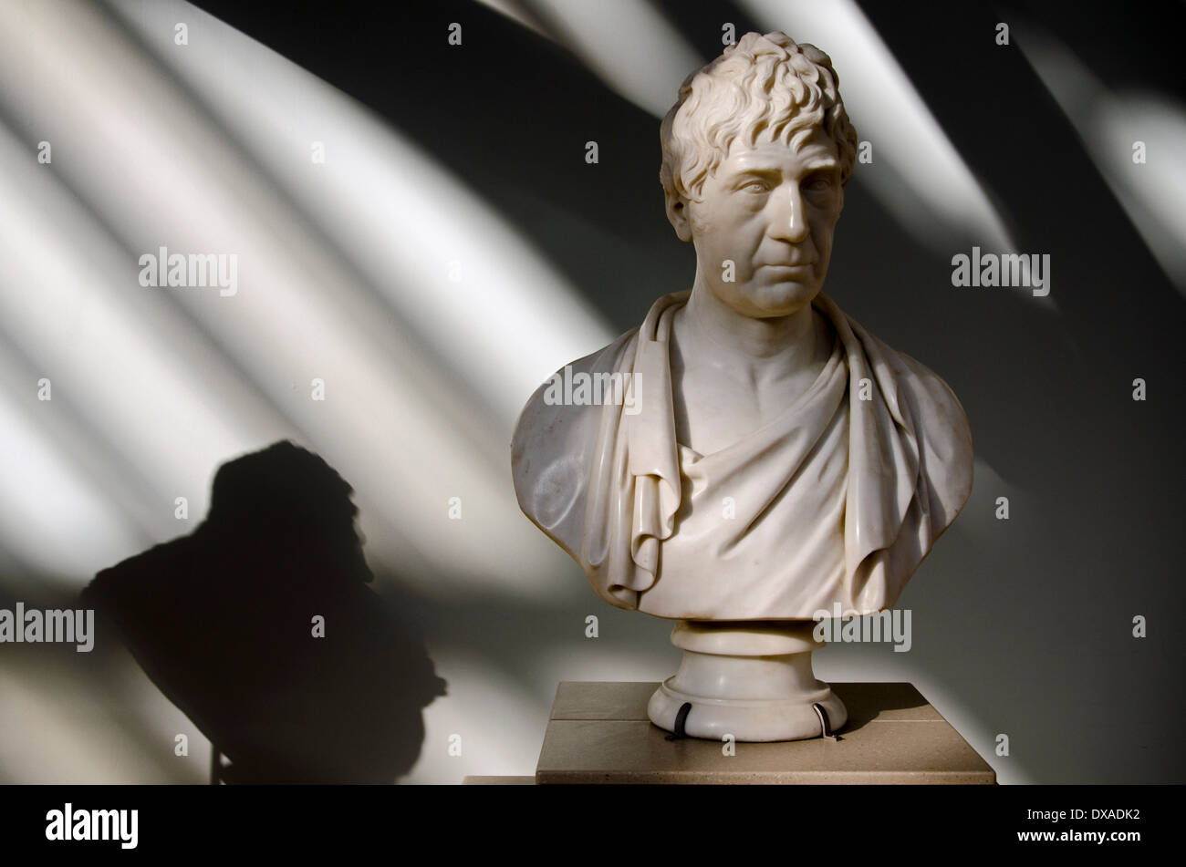 A bust of the Scottish politician and doctor Joseph Hume (1777-1855) who entered parliament as a Tory in 1812. - Stock Image