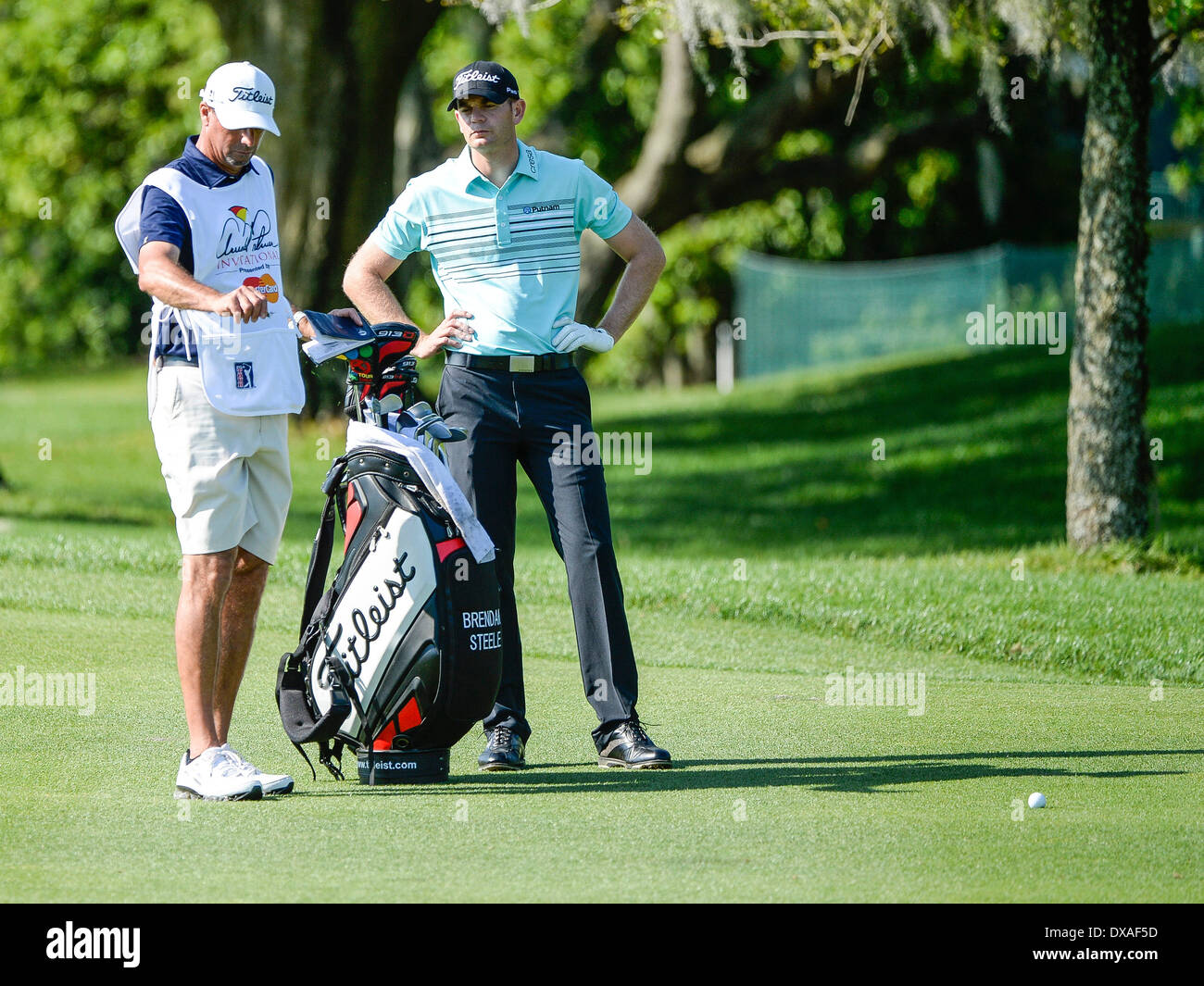 21st March 2014. Brendan Steele #1 fairway during second round golf action of the Arnold Palmer Invitational presented by Mastercard held at Arnold Palmer's ...