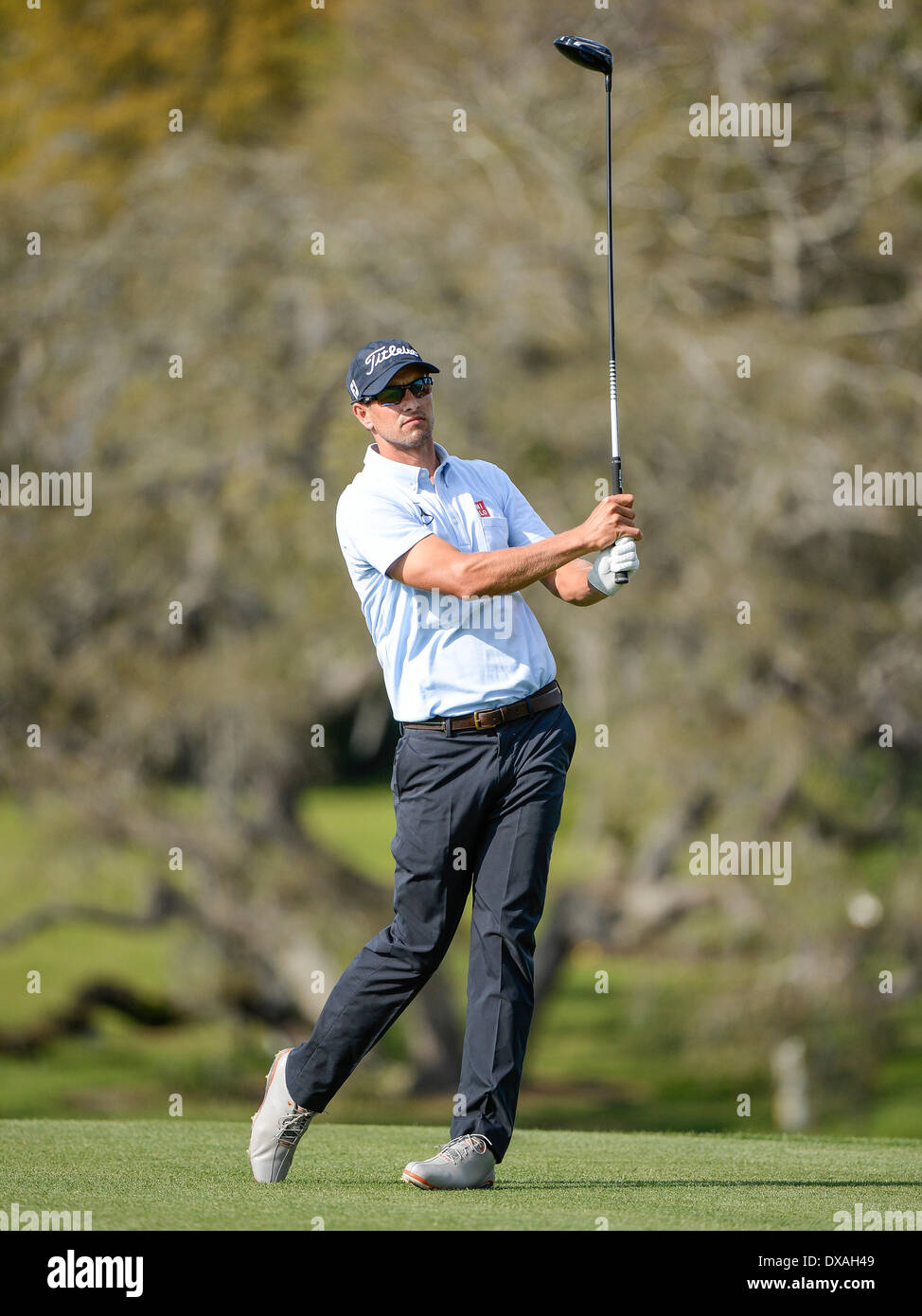 21st March 2014. Adam Scott on the 16th tee during second round golf action of the Arnold Palmer Invitational presented by Mastercard held at Arnold ...
