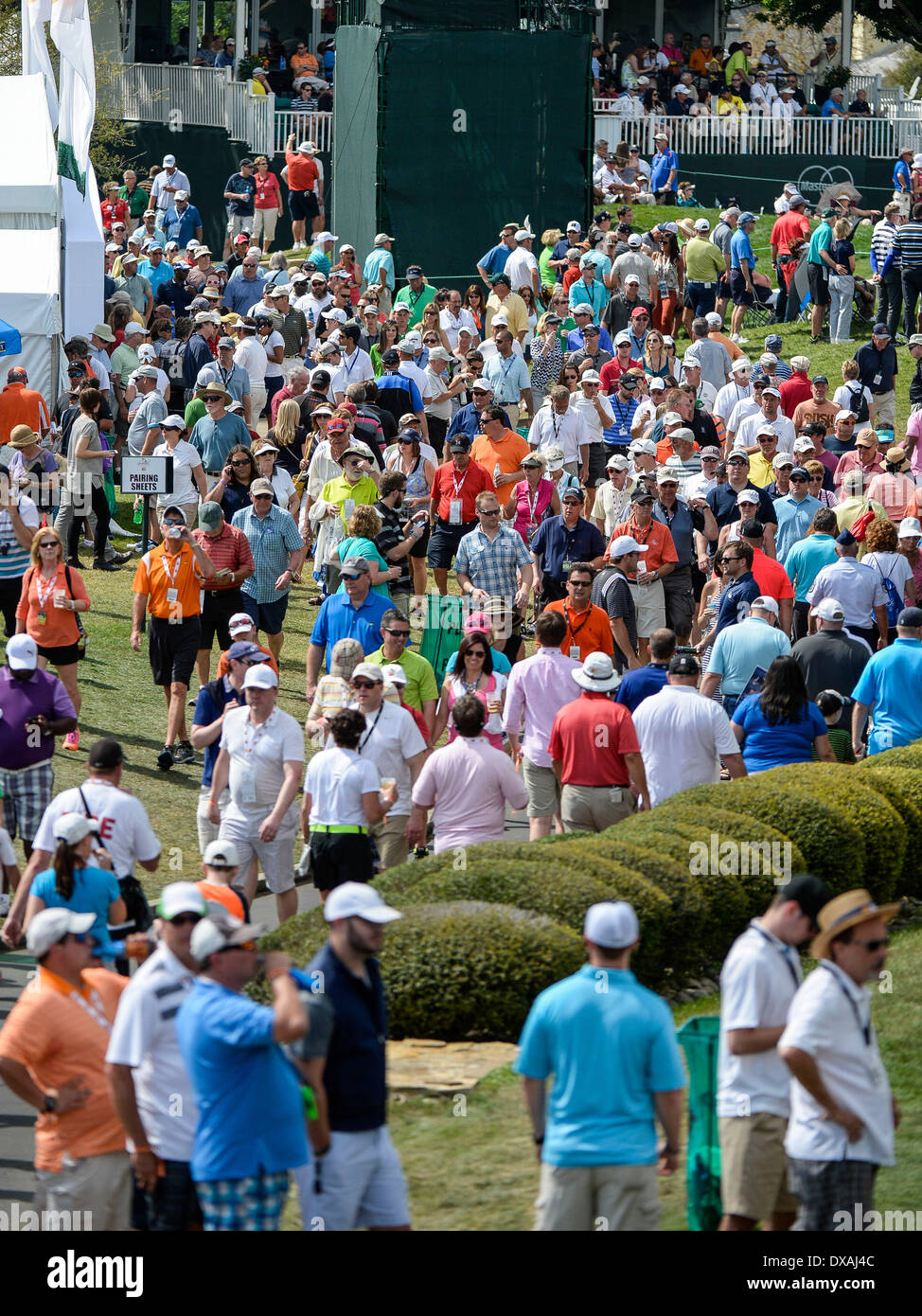 21st March 2014. Crowds at Bay Hill during second round golf action of the Arnold Palmer Invitational presented by Mastercard held at Arnold Palmer's Bay ...