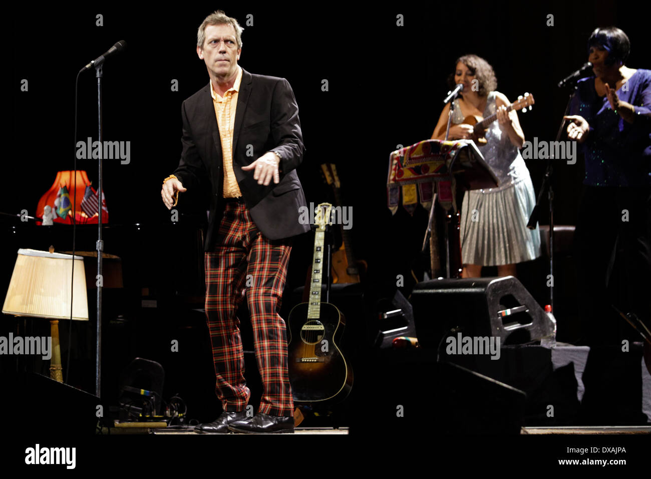 Hugh Laurie & The Cotton Band performs in Citibank Hall, Rio de Janeiro, on March 30th, 2013 - Stock Image