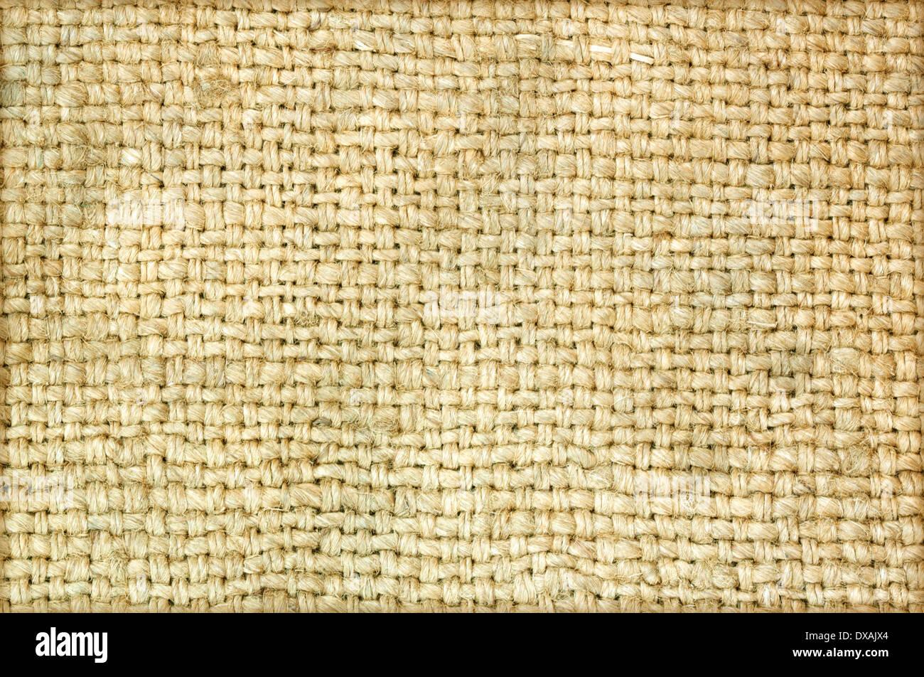 Sacks of hemp rope background vintage details. - Stock Image
