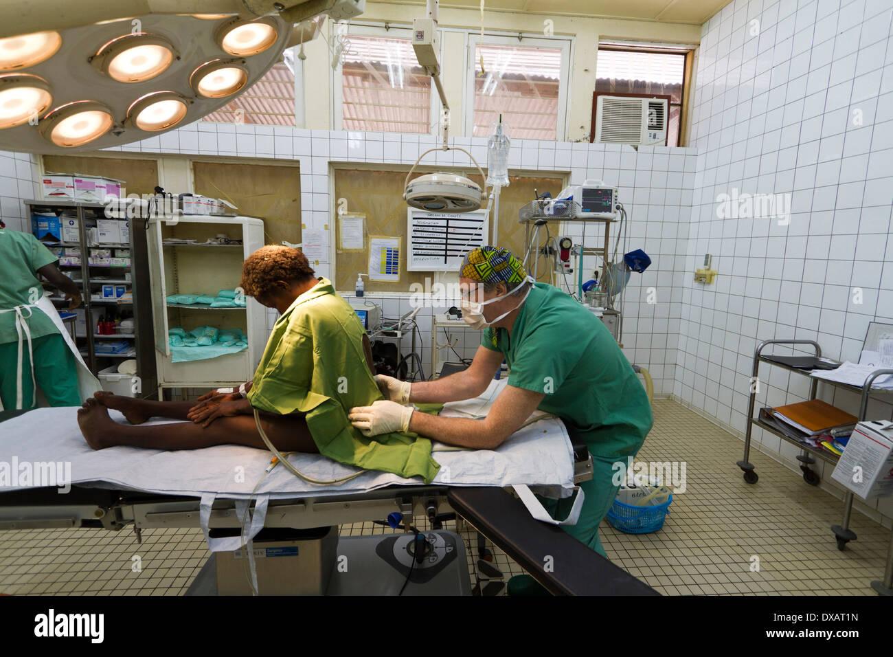 operating theater in the MSF hospital ,Rutshuru,North Kiwu ,DRC,Democratic Republic of Congo. - Stock Image