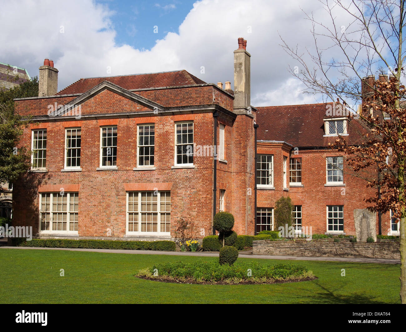 Abbey House, the official home of the Mayor of Winchester seen from ...