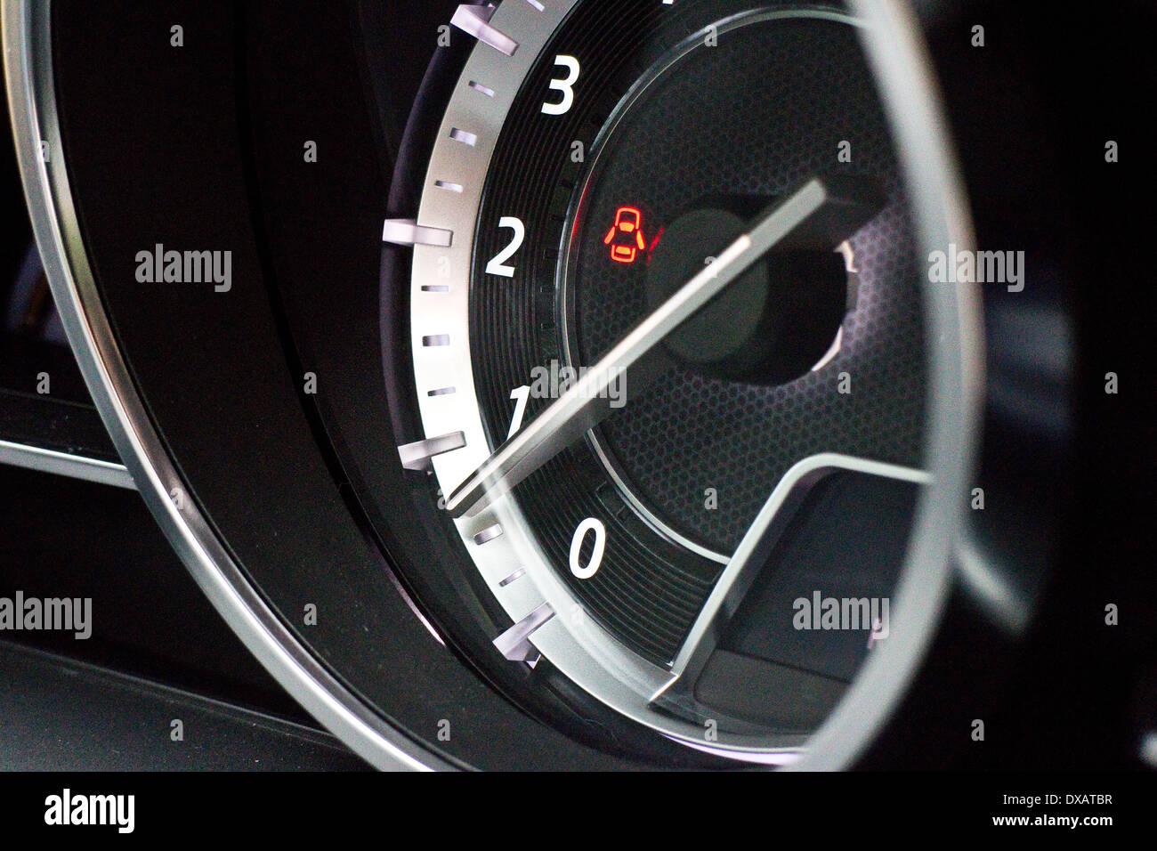 Mazda 6 2014 dashboard - Stock Image