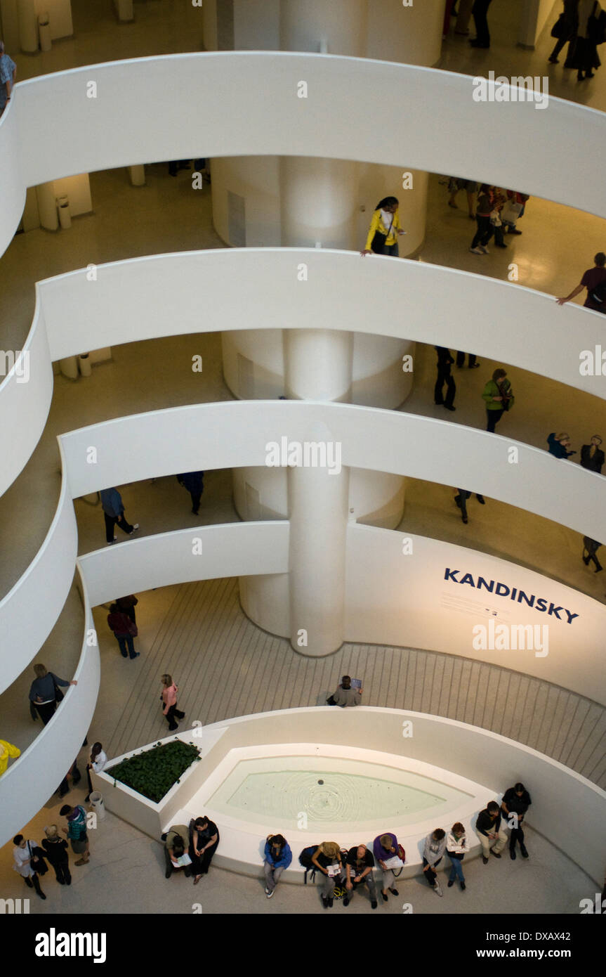 One more reason to visit New York : The Solomon R. Guggenheim Museum has prepared an unprecedented exhibition of works by Russia - Stock Image
