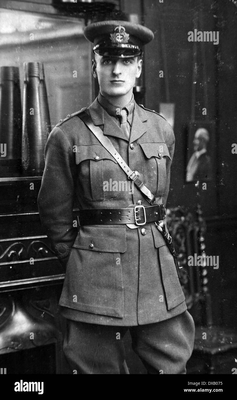 Royal Navy WW1 an officer of the Royal Naval Division - Stock Image