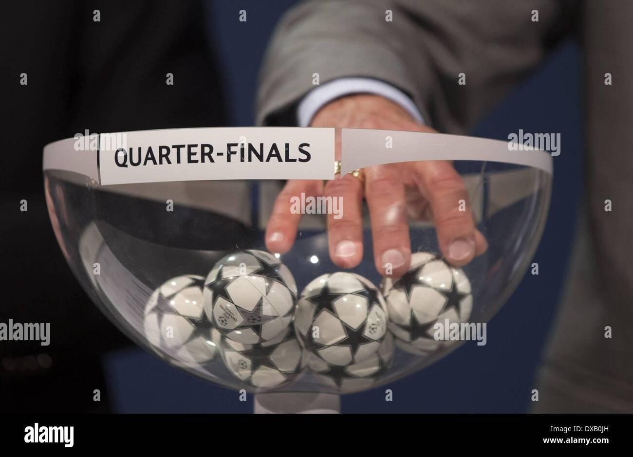 Nyon Switzerland 21st Mar 2014 Champions League Quarterfinal