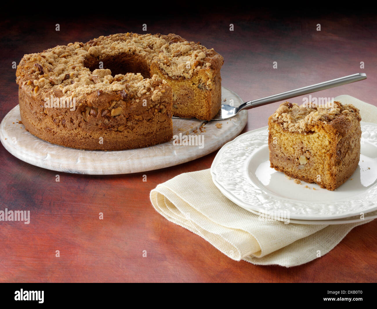 Garnavillo coffee cake - Stock Image