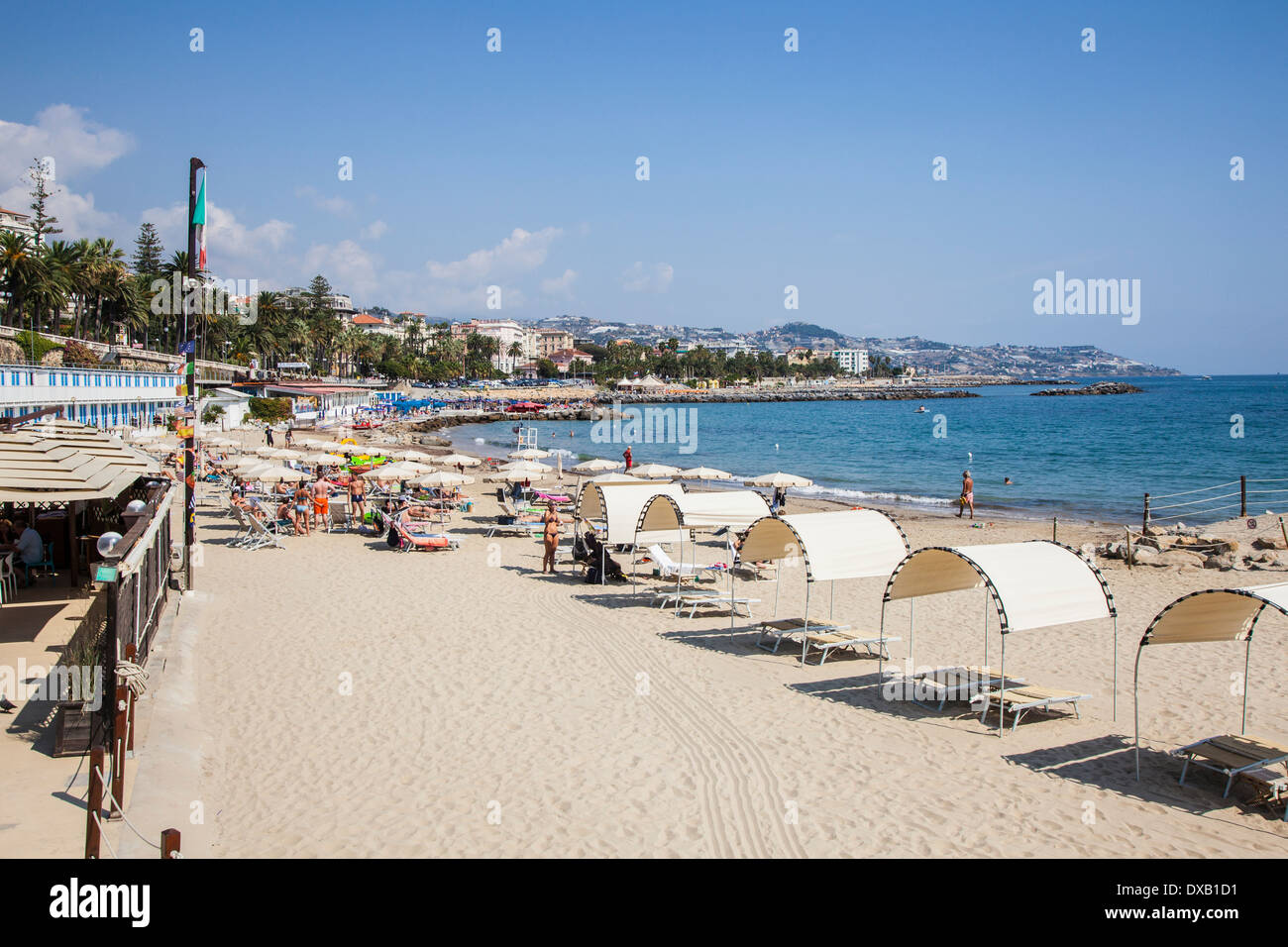 Beach Italy San Remo Liguria Stock Photos Beach Italy San Remo