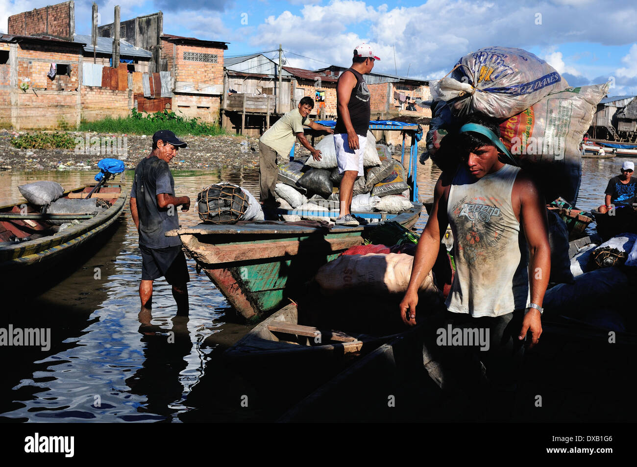 Charcoal - Port of Belen in IQUITOS   Department of Loreto