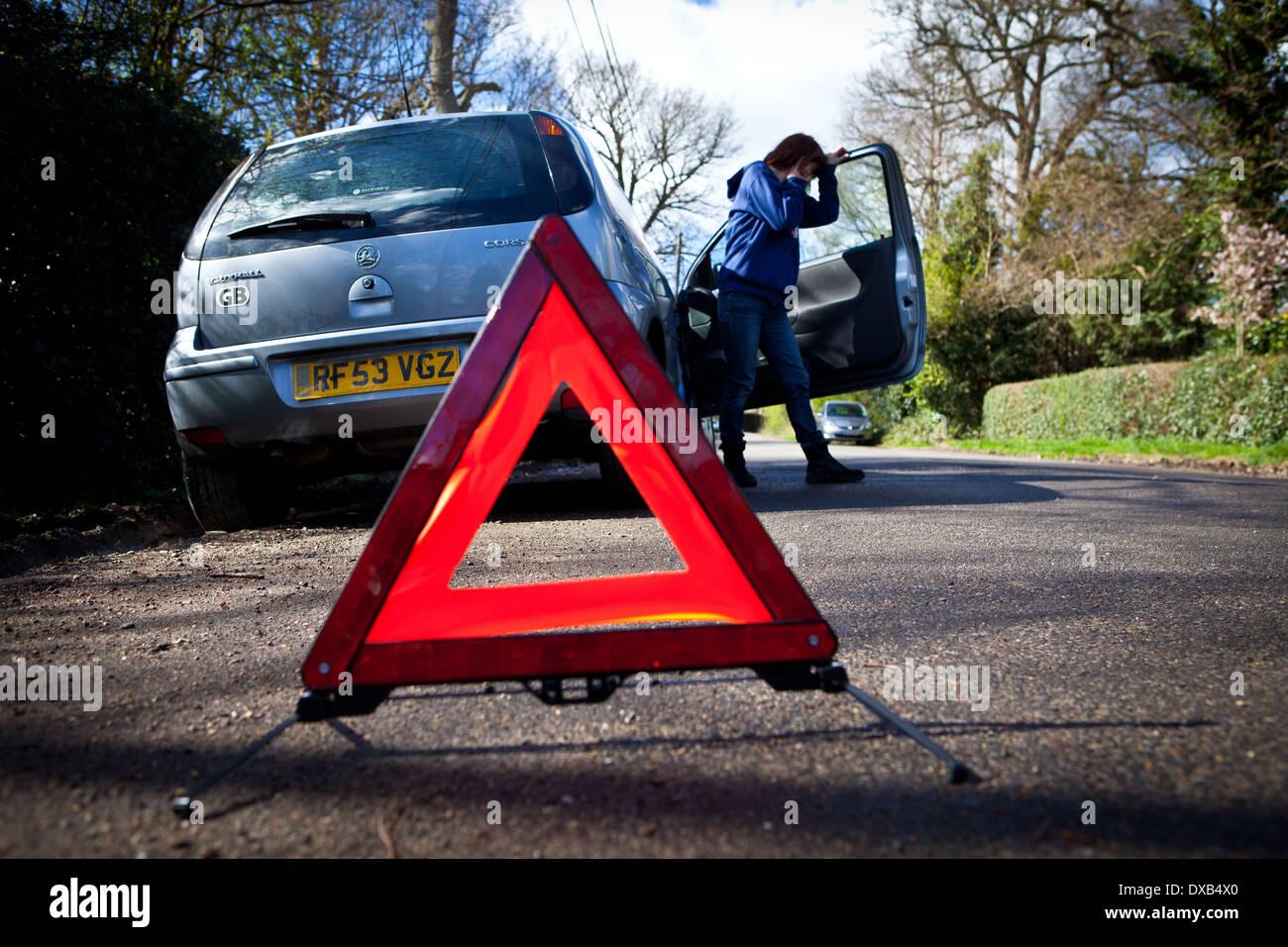 Car Breakdown - Stock Image