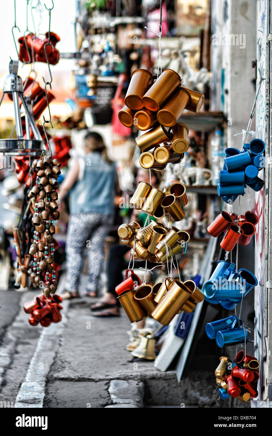Souvenir shop in the streets of Athens, Greece - Stock Image