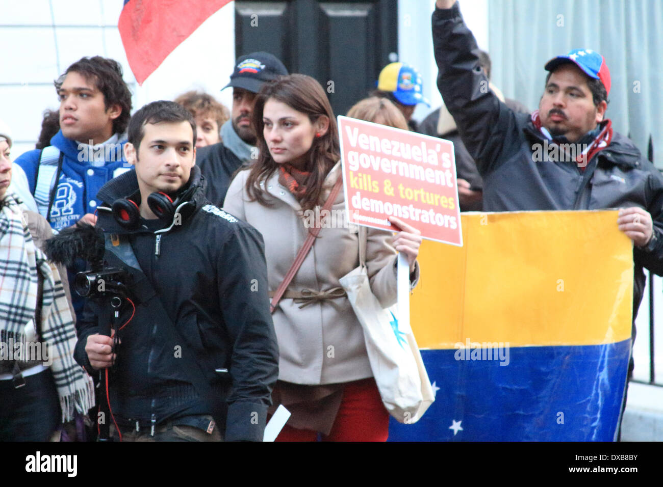 London, UK. 22nd Mar, 2014. The justice4venezuela campaign seeks to put international pressure on the government of Nicolás Maduro to ensure that human rights are respected in Venezuela. © Ashok Saxena/Alamy Live News - Stock Image