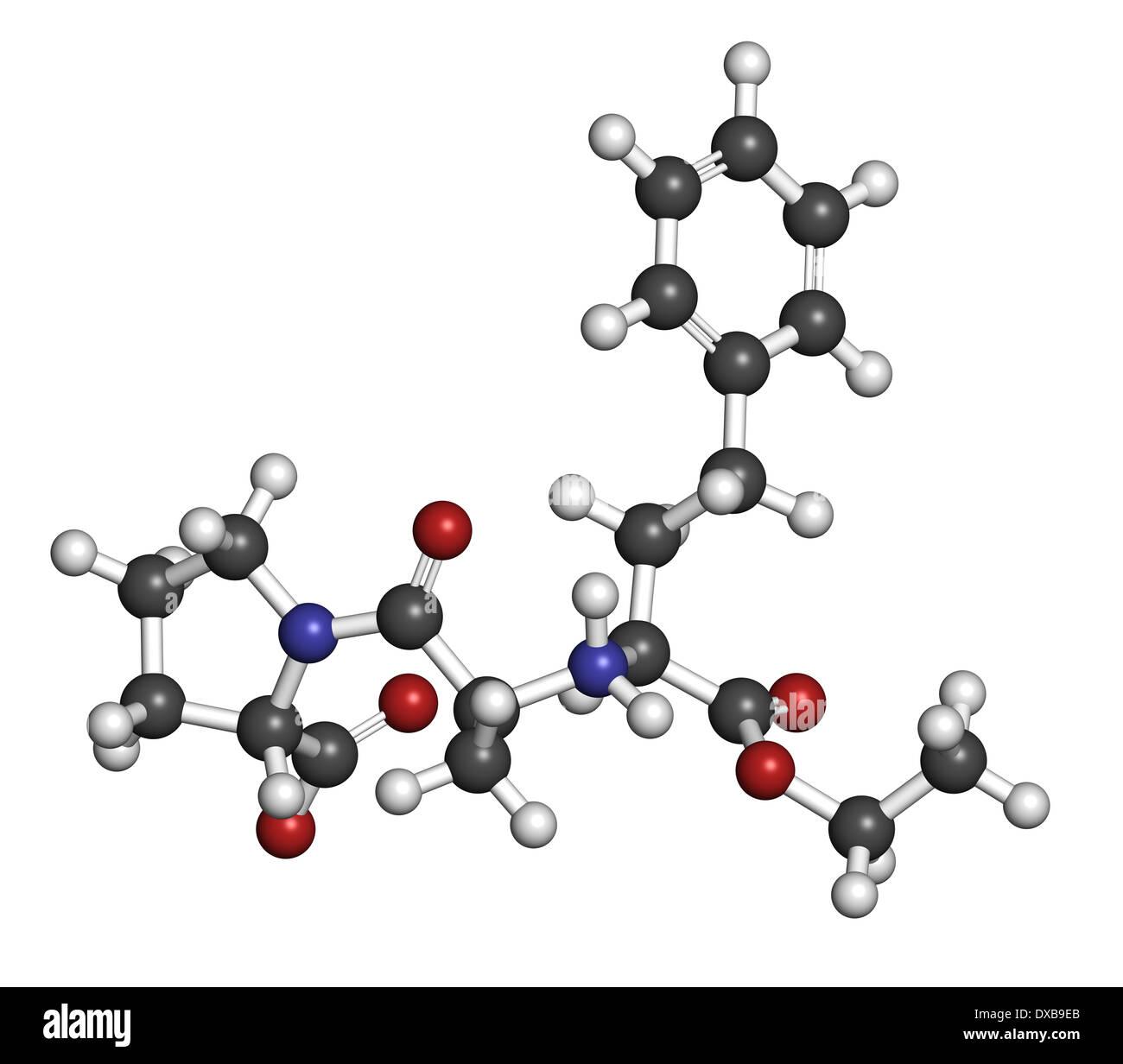 Enalapril high blood pressure drug molecule  Angiotensin
