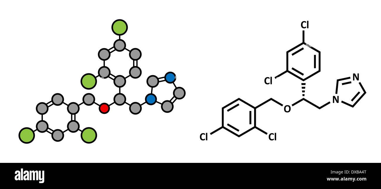 Miconazole antifungal drug molecule imidazole class antimycotic miconazole antifungal drug molecule imidazole class antimycotic used in treatment of athletes foot ringworm etc ccuart Gallery