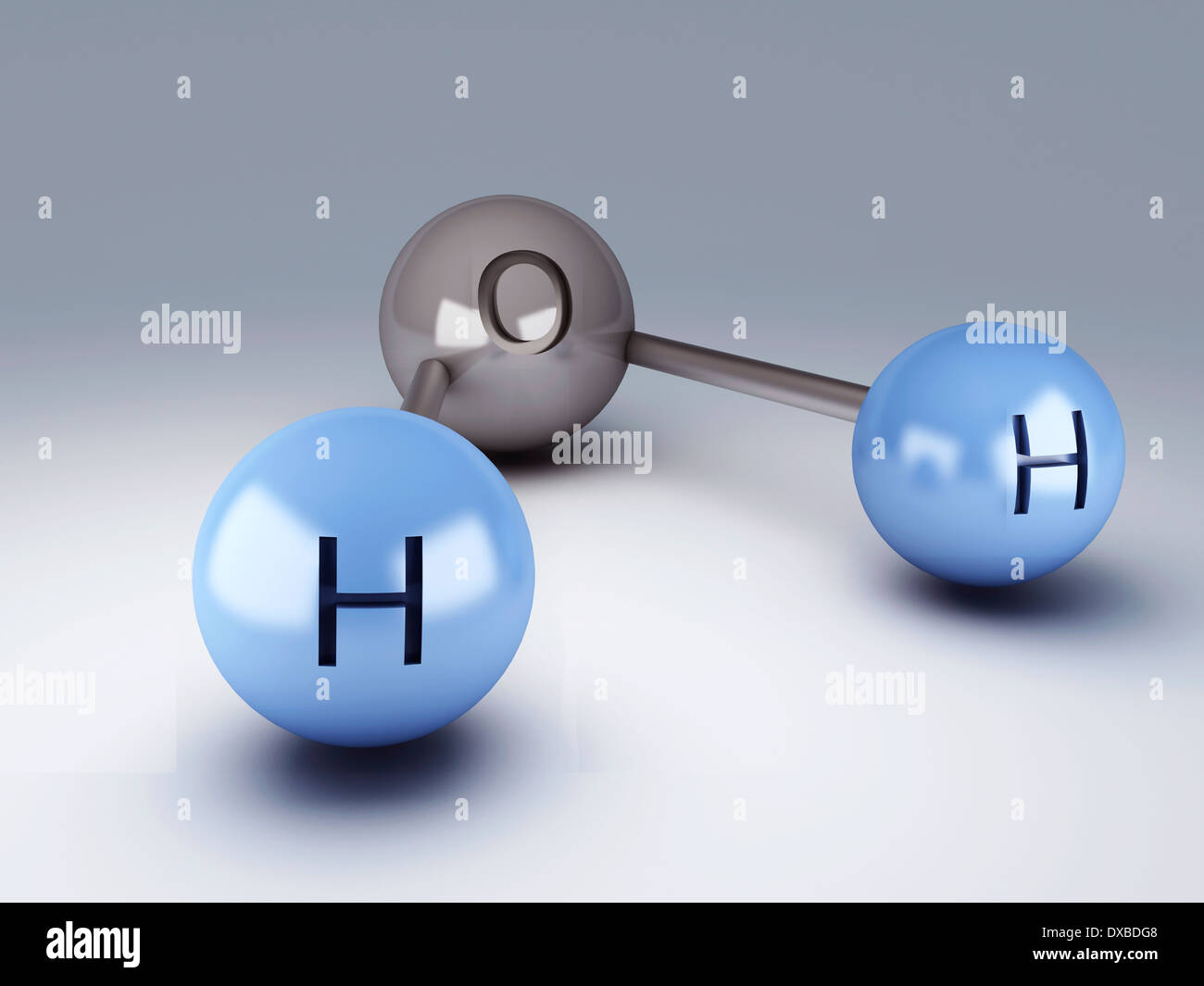 H2O Molecule 3d illustration Stock Photo: 67864280 - Alamy