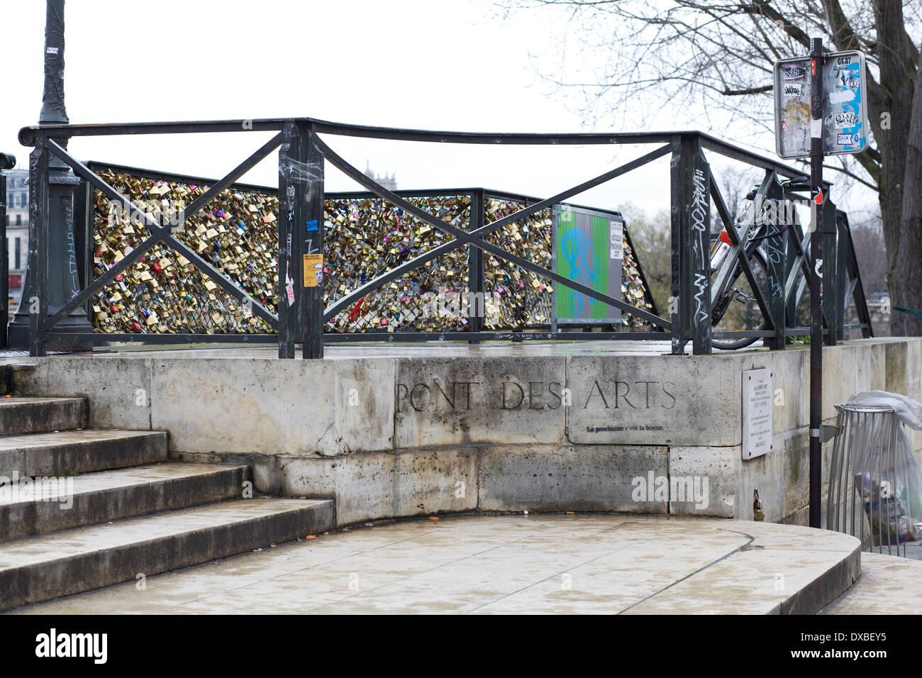 Pont des Arts Bridge Paris - Stock Image