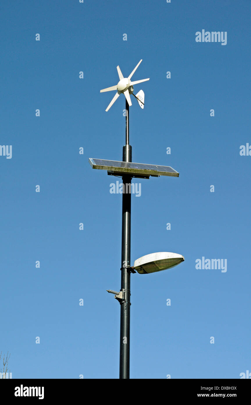 Wind And Solar Powered Lamppost Or Lamp Post Mile End Park London
